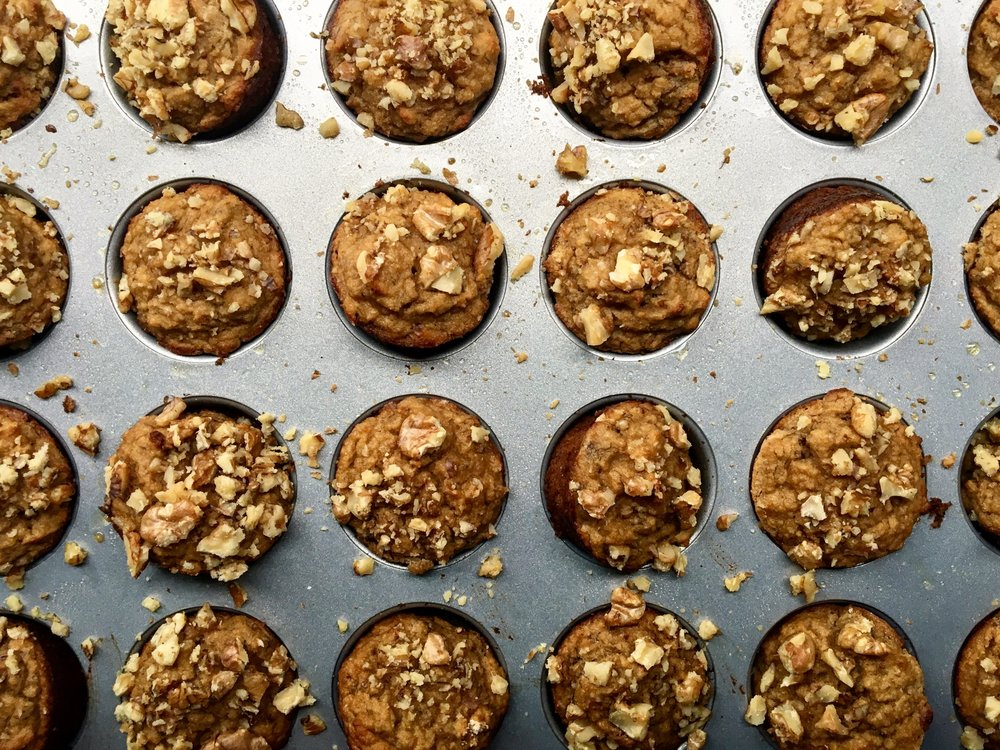 Grain Free Banana Nut Mini Muffins