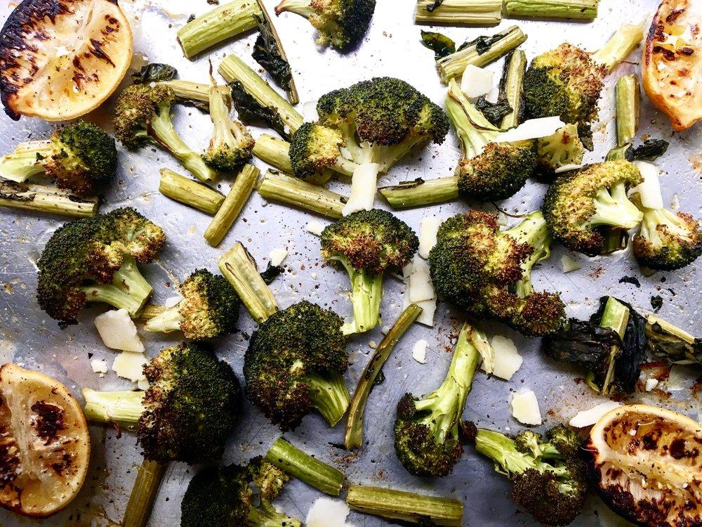 Roasted Broccoli / Roasted Lemons / Pecorino