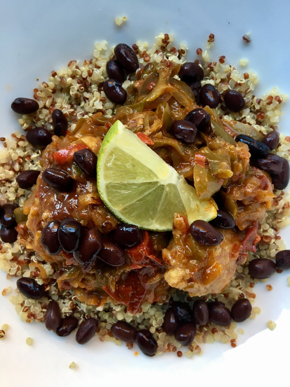 Chipotle Chicken Makeover / Grains + Beans