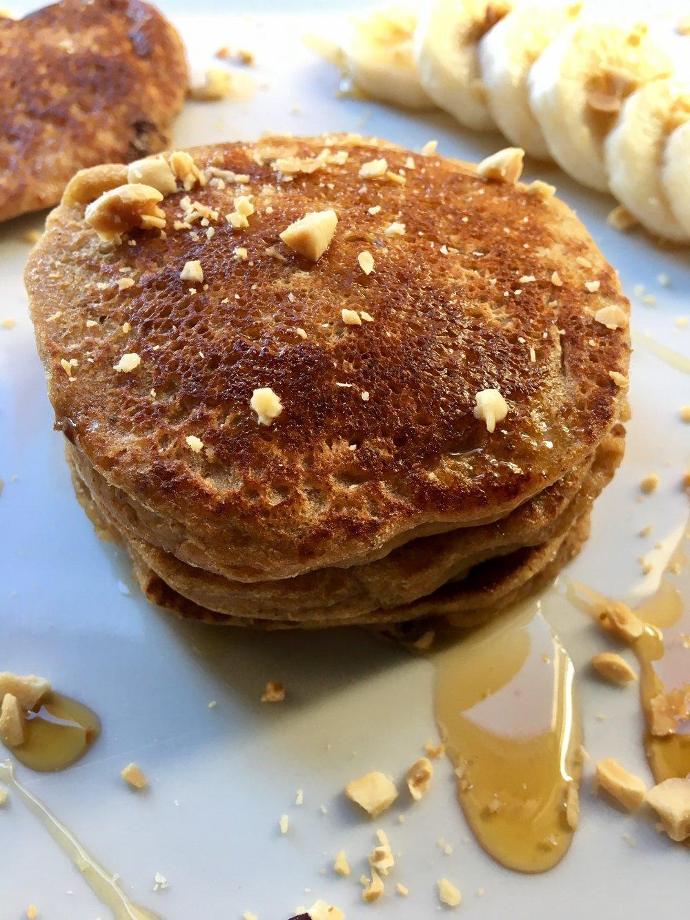 Banana Peanutbutter Pancakes