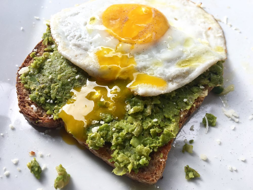 pea toast (after the yolk break)