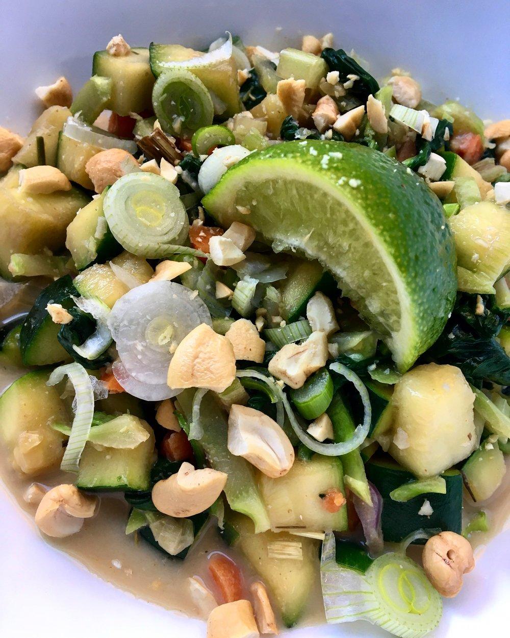 12 Minute Meal / Veggies in Coconut Milk