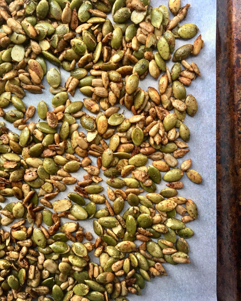 Spiced Roasted Seeds