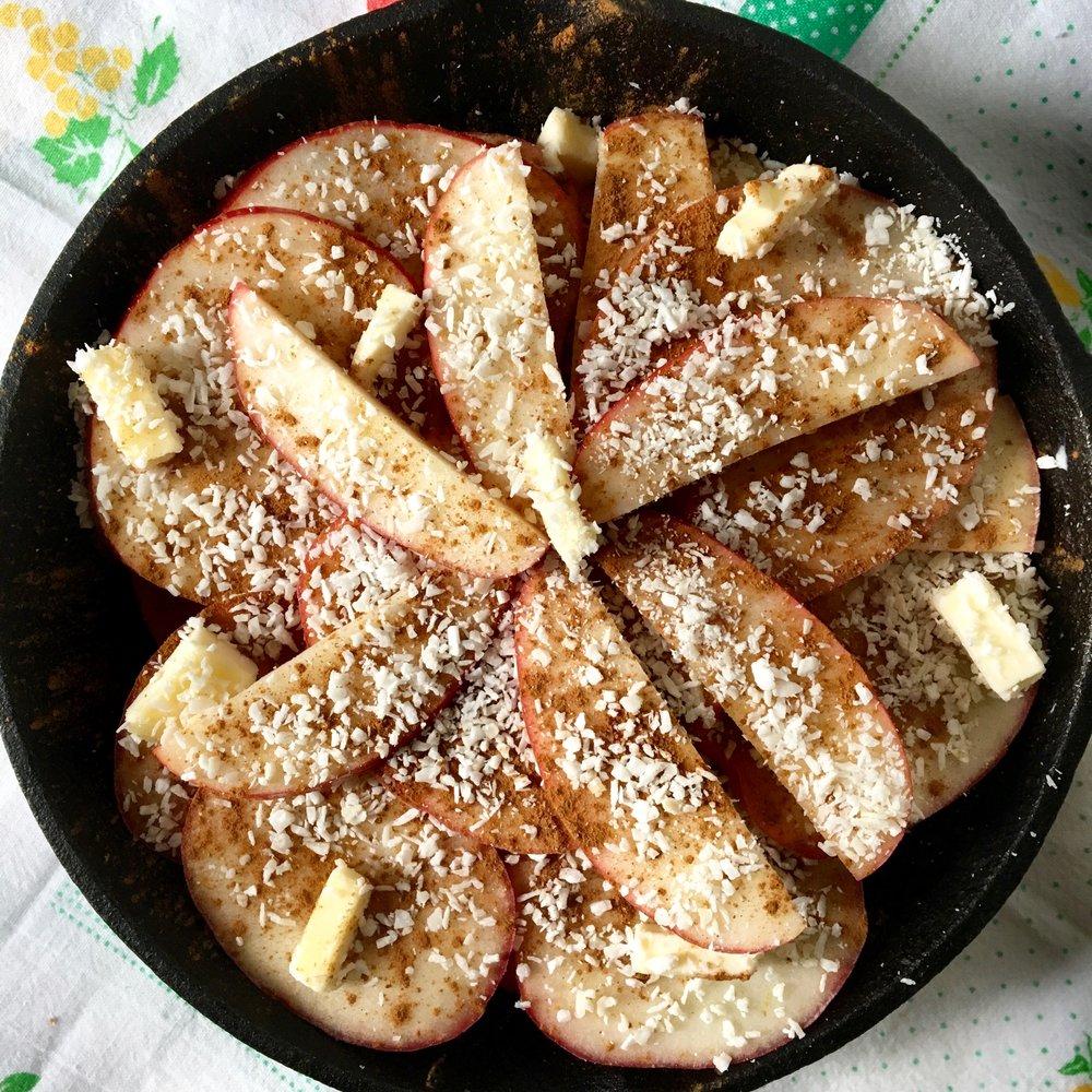 "Skillet Baked Apple ""Pie"""