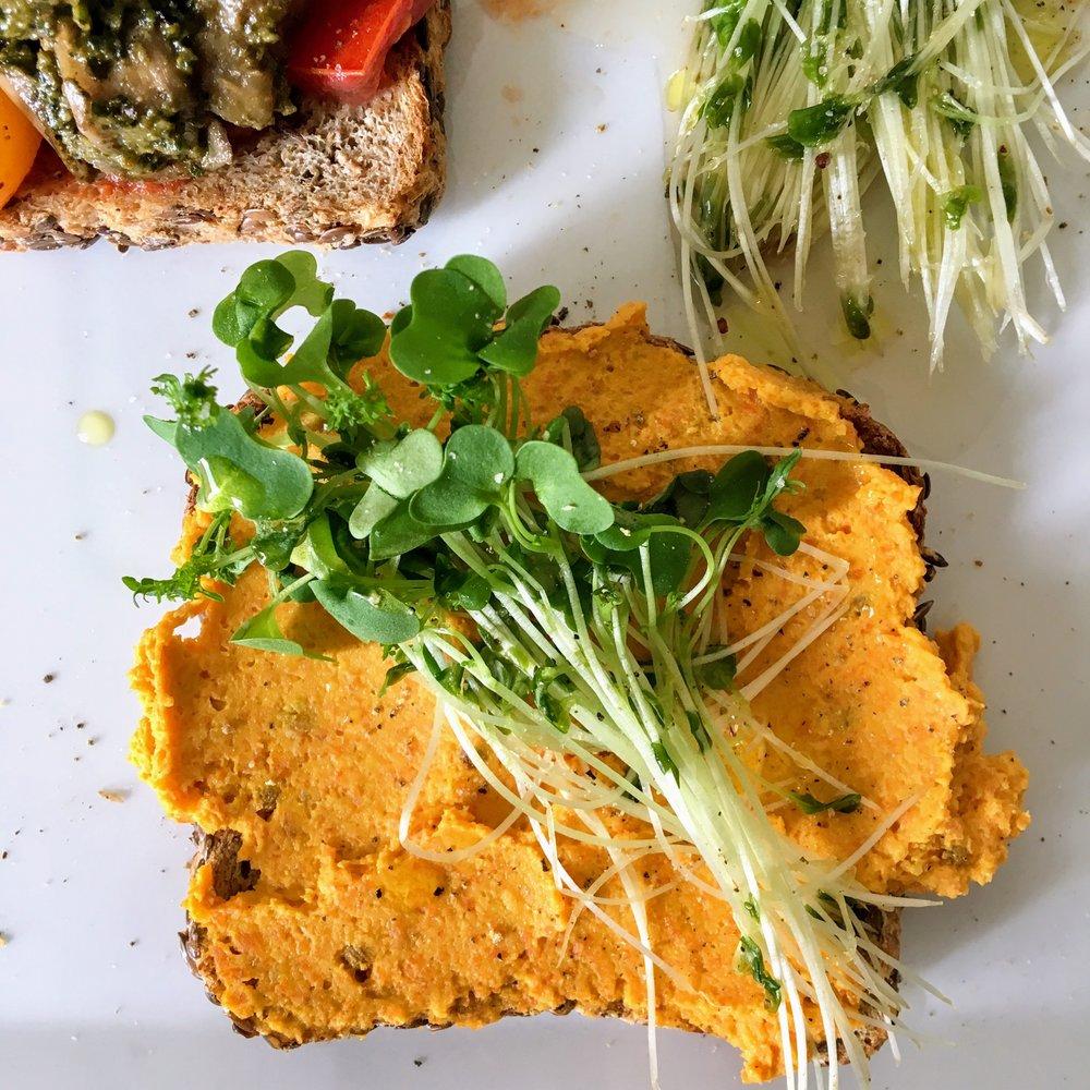carrot hummus toast .JPG