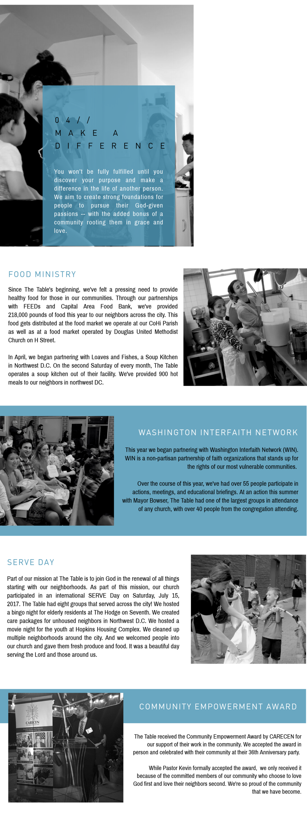 2017 Annual Report — The Table: A Family of Churches in DC