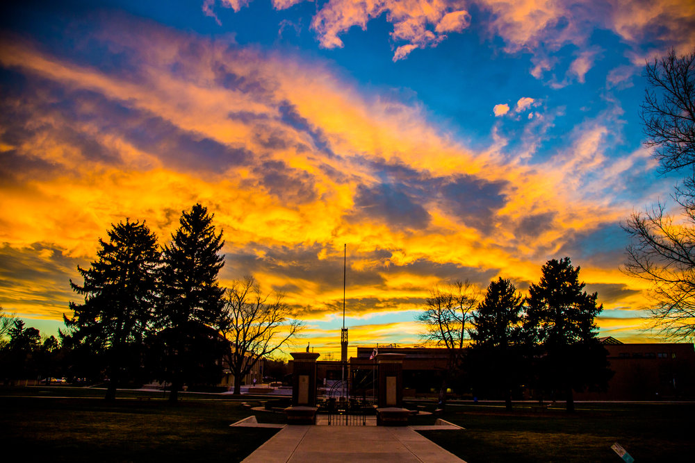 Sunrise over JWU's Denver Campus