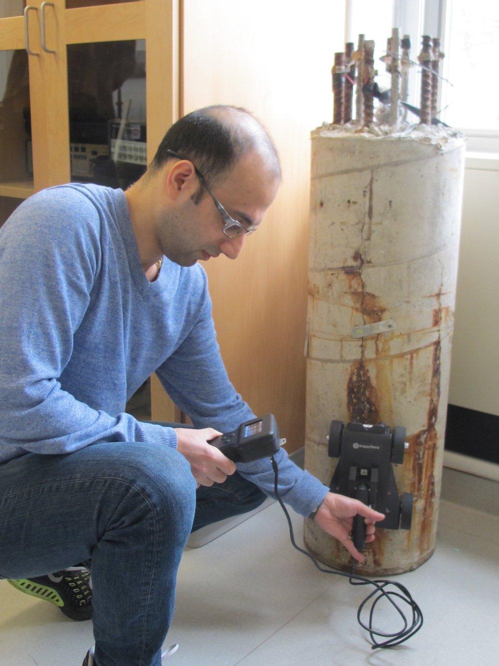 Figure 3. Reinforcement steel corrosion detector.