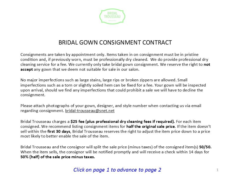 Gown Consignment — Bridal Trousseau