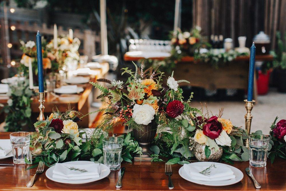 Fall wedding reception at Big Sur Bakery.