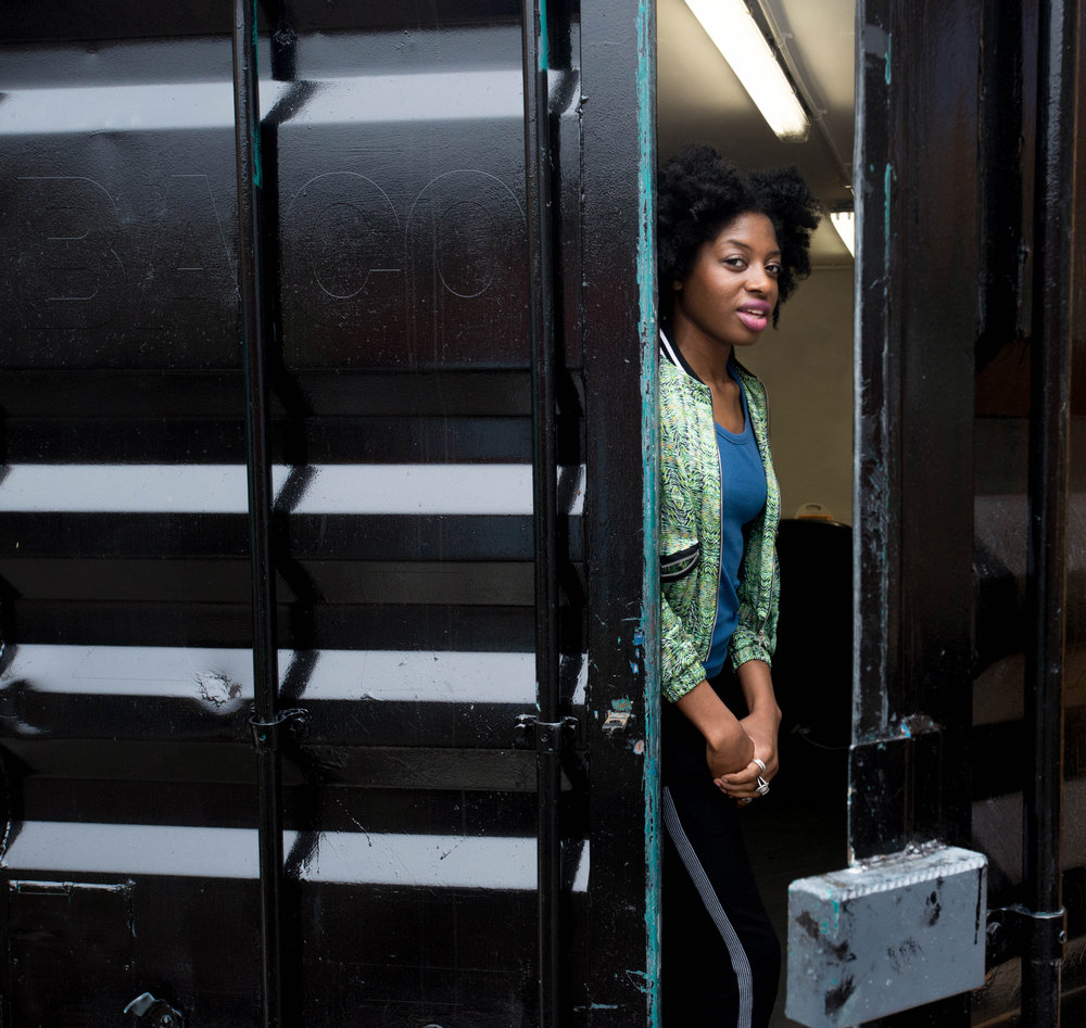 Yemzi, Fashion Designer - Photographed for Bootstraps Company, Hackney London.