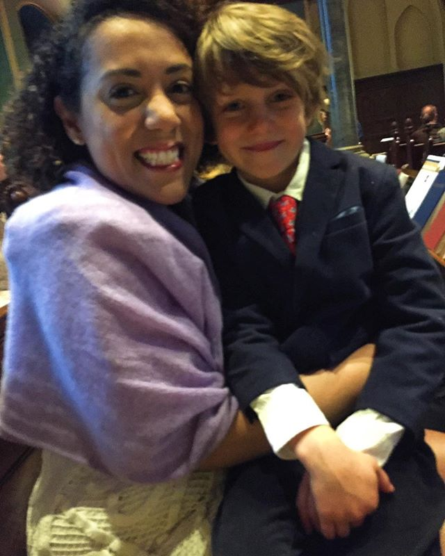 I found my Easter Angel at church the morning! So glad to be your Godmother, Gilbert! Hail thee festival day! #easter #love #church #sunday #godson