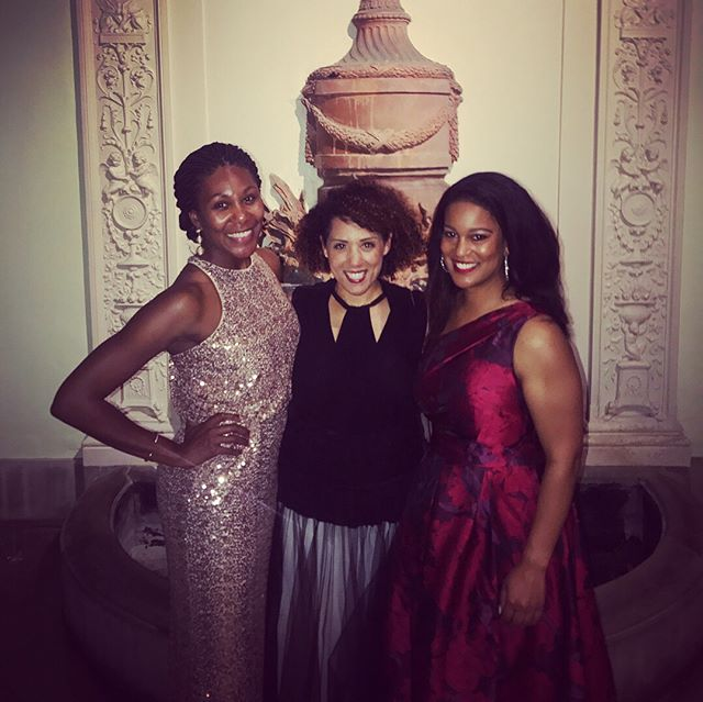 Swan Ball last night was a such blast. If you'd told Nashville social justice pioneers Robert Churchwell, RH Boyd, and Avon N. Williams Jr. that one day their grown granddaughters would be carrying on their family missions and REPRESENTING with ALL the blackgirlmagic at a once deeply segregated event, I like to think they'd have been skeptical but hopeful that Nashville could be a place where such a thing were possible. If you'd told me when I was seventeen that one day I'd be putting on a gown and pre-ball-ing with Chris Scribner, I would not have believed you. Pinch yourself, high school Caroline. If you'd told me in college that I would get to take near-identical white tie/be-gowned  pics with Read Ezell nearly a decade apart, I would've been like, that had better be the case. Here's to dreams coming true, besties staying the course, and history helping shape the present and the future!  #swanball #cheekwood #nashville #dream #besties #bethechange #inthecompanyofmysisters #blackgirlmagic