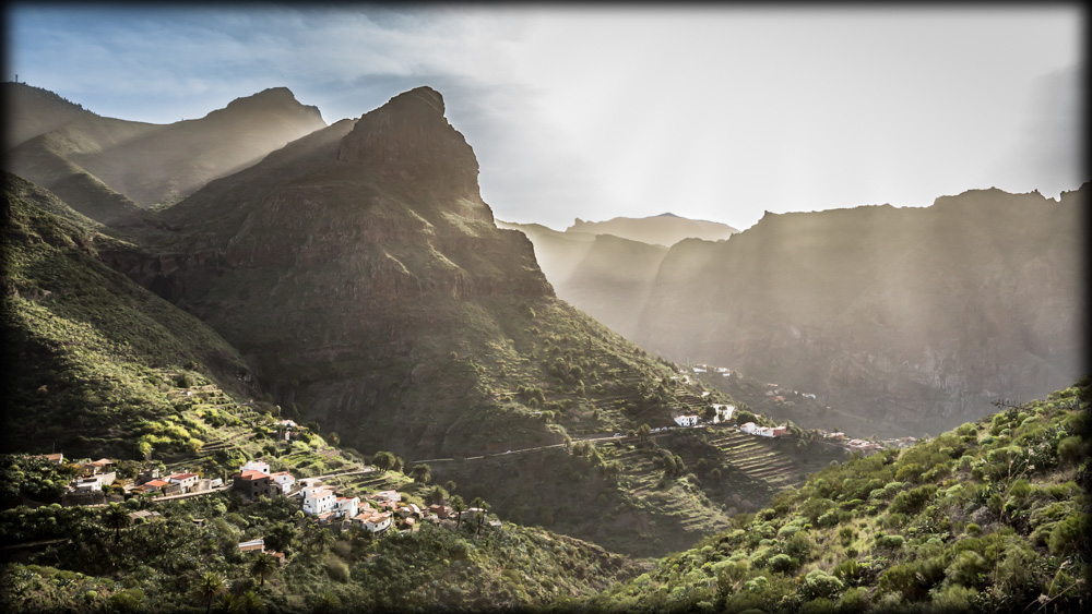 Landscape: Shining dust over the Masca Valley.