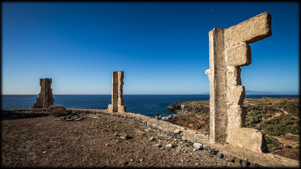 Landscape: Unfinished work at El Puertito.