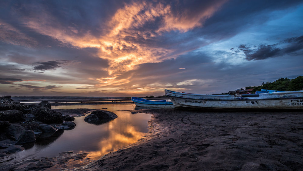 Perfect Timing: Glowing Clouds in Nicaragua.