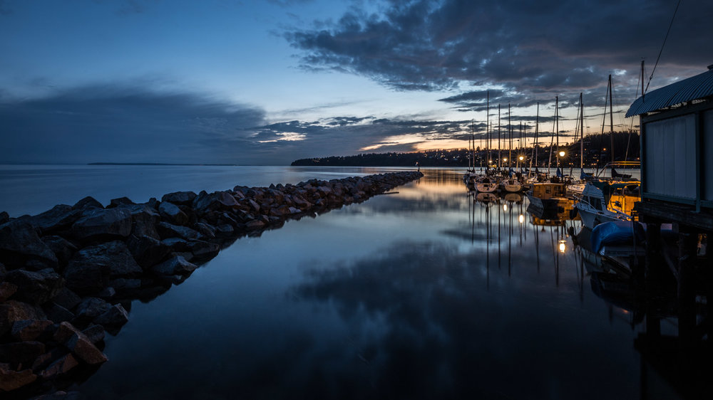 Glowing Sunset at the Blue Hour: White Rock