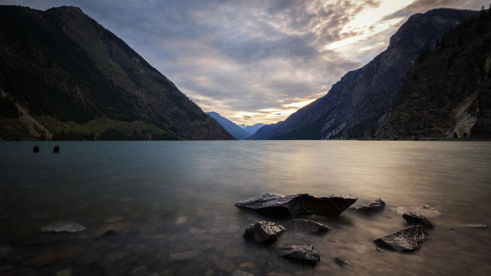 Rough Canyons: Sunset at the Seton Lake