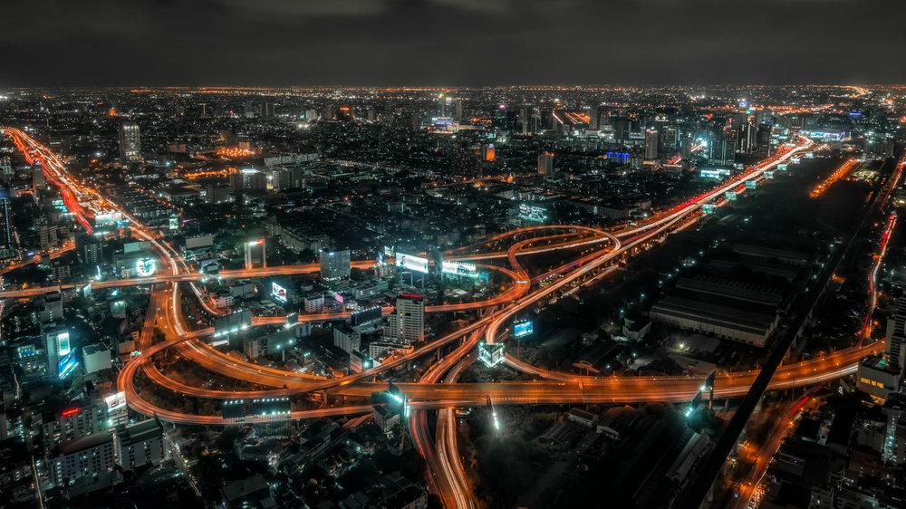 City Photography: Downtown Bangkok at Night