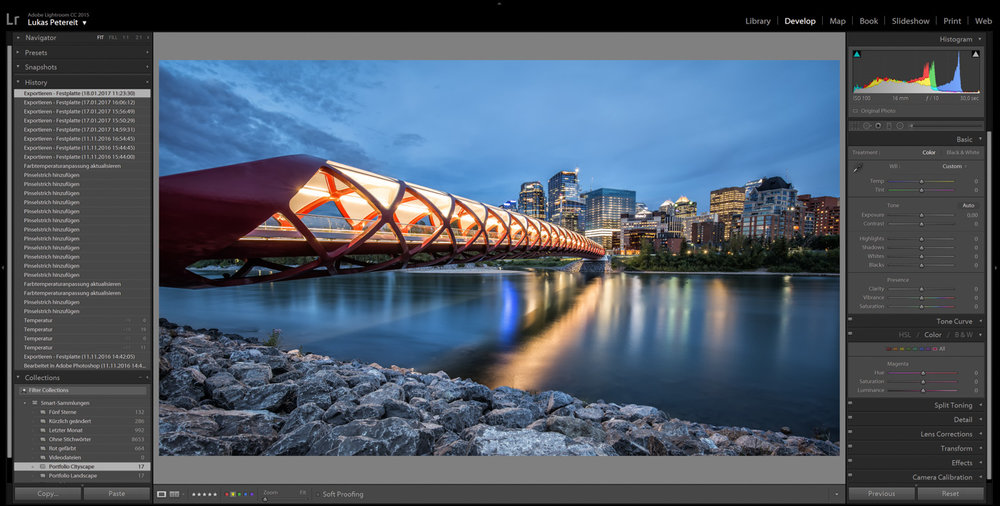 A simple interface: Adobe Lightroom offes several functions for fast and professional editing