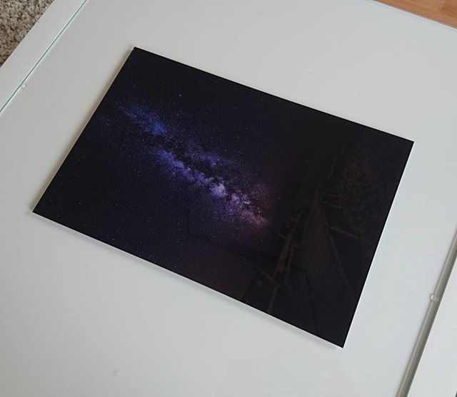 Too bad! I got my new print of @saal_digital and it's way too dark. Seems like they have some issues with dark prints. The icc proof was fine, but the result does not match. What shall I do with this shot? 🤔 #saaldigital #print #milkyway #toodark #sad