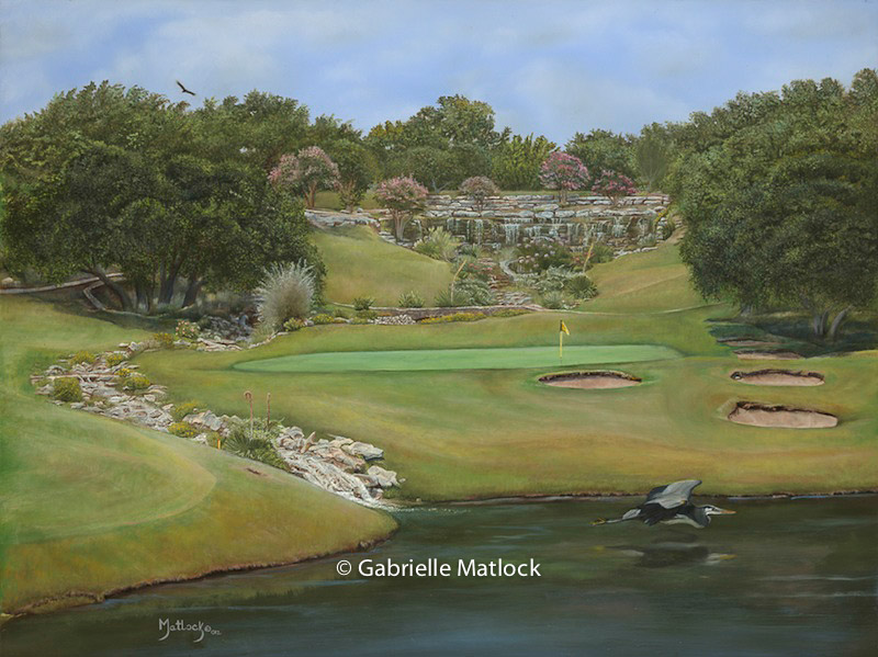 """Paradise Cove""  Signature hole in Spicewood, TX"