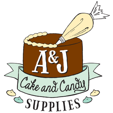 a j cake and candy supplies