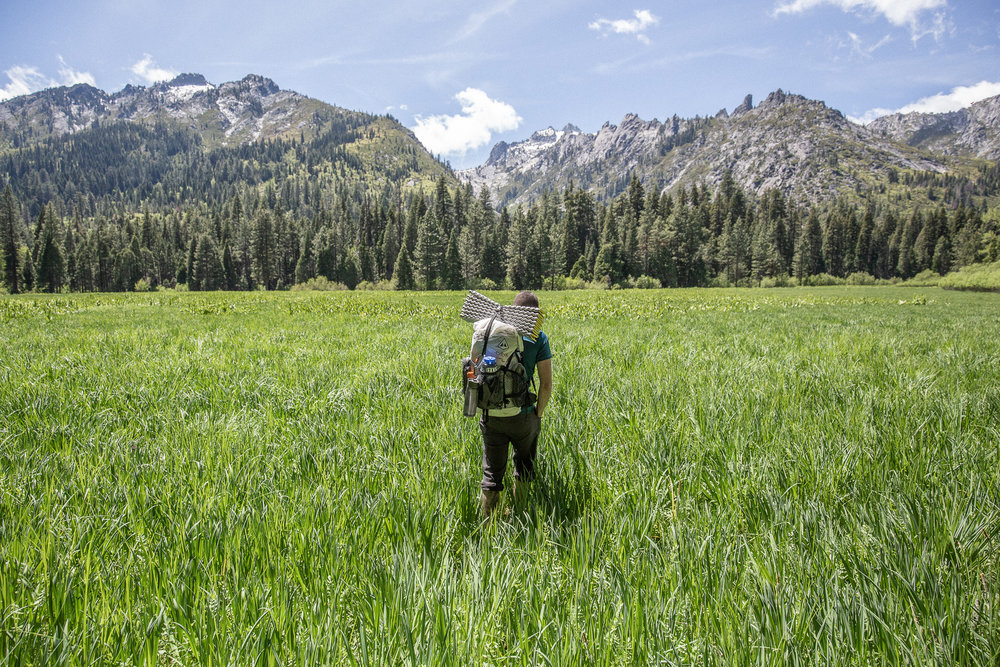 Backpacking in the Trinity Alps.