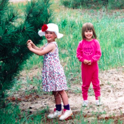 Olive and Lillian as children. Definitely still at Barbie-playing age.