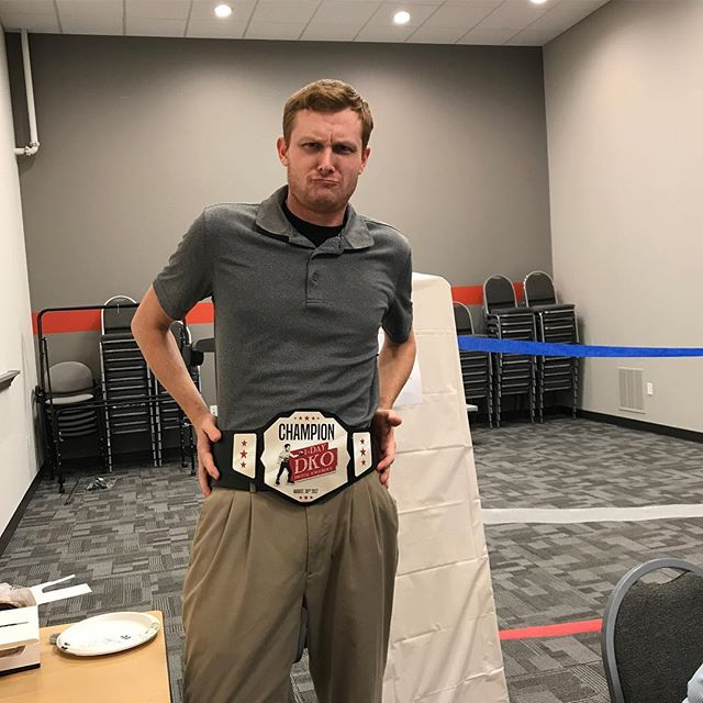 After ten ferocious rounds, Justin Sweeney takes home the first annual BMG DKO Belt! #DigitalMarketing #AgencyLife