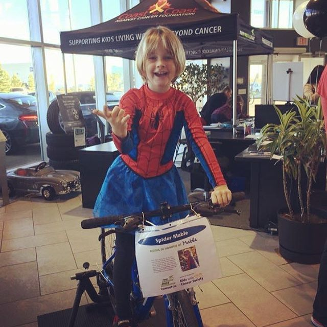 "Happy Birthday to this wonderful ... or should I say ""Amazing"" 9-year-old!  We wish her a wonderful day of adventuring at @official_wem / West Edmonton Mall where we got to see this mini-hero in action 3 years ago, as @spidermable . Keep growing, keep up the terrific volunteering and giving back, and you will keep inspiring us all, Mable!  Have a great birthday! 🎉🎁🍰🎊🎈"
