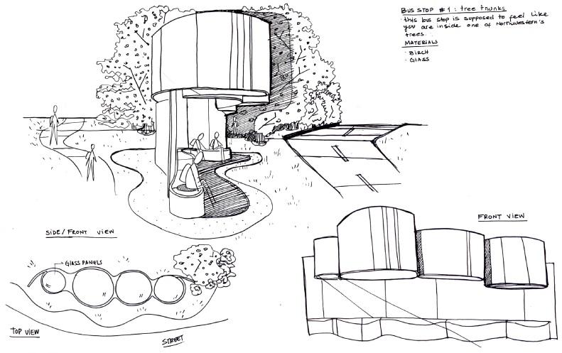Developmental sketch : Bus stop