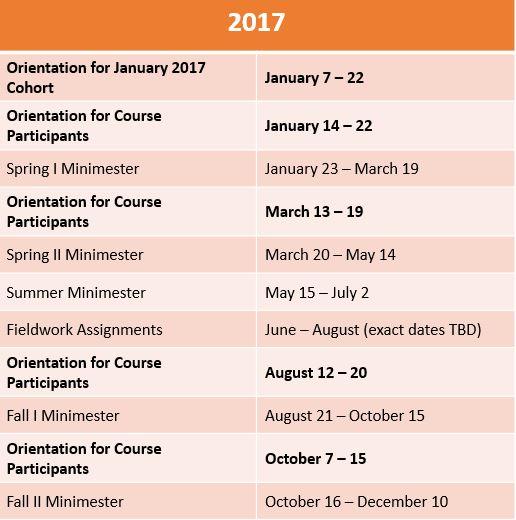 Gcc Calendar.Academic Calendar Global Competence Certificate