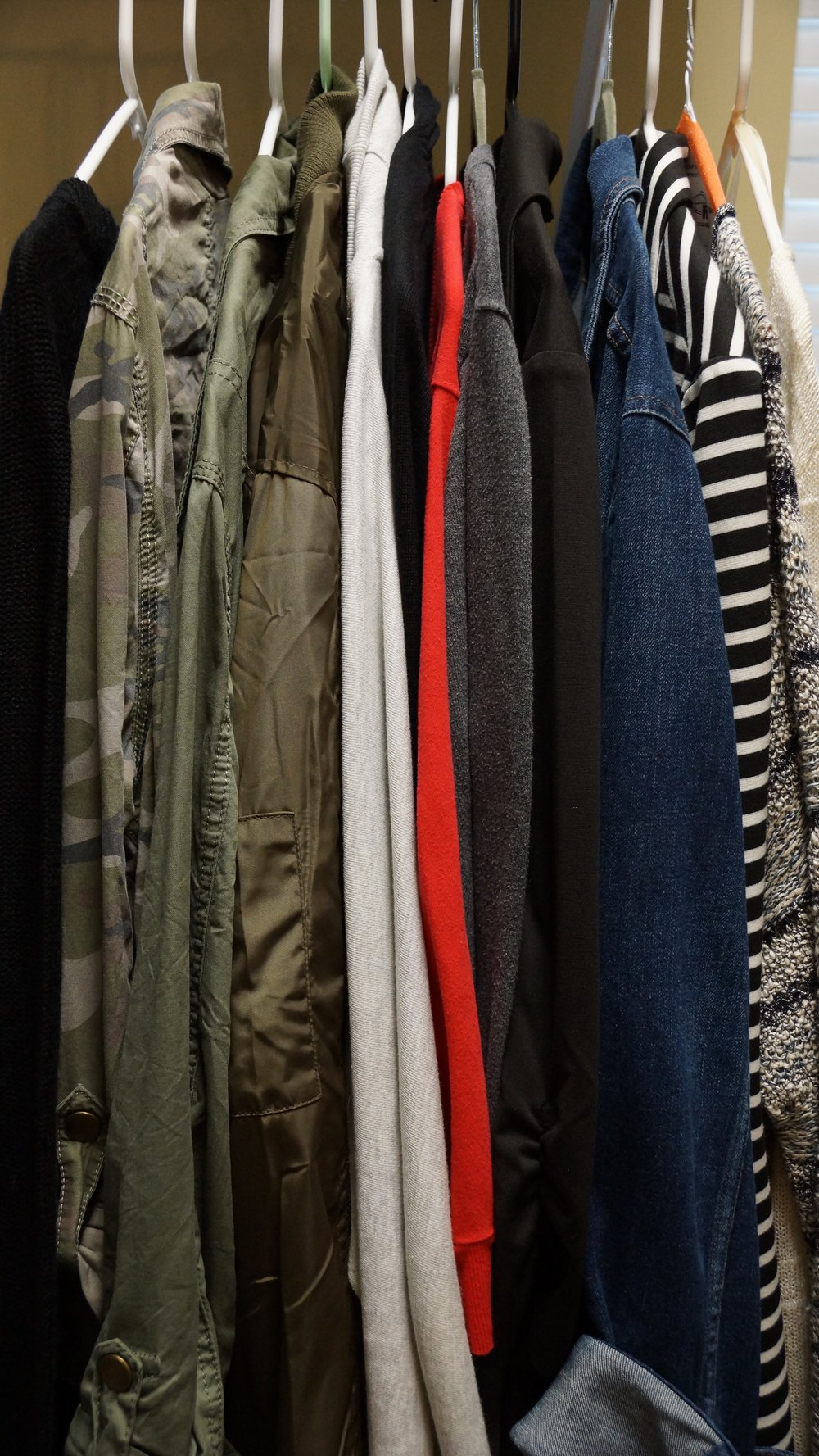 Did I mention I like to layer??  These are some of my jackets and cardigans.