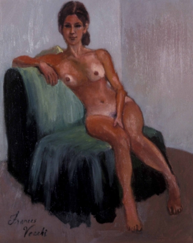 Girl on Green Chair
