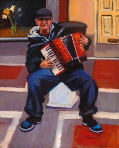 Accordion Player, Grafton Street, Dublin