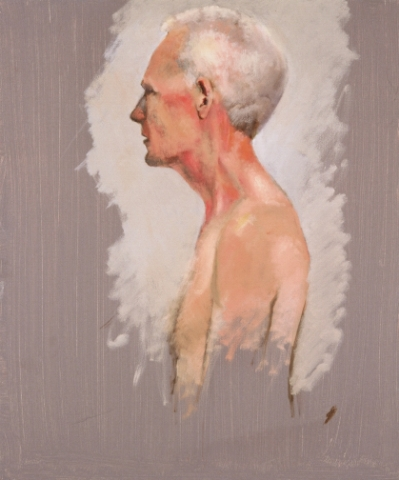 Study of Man with White Hair