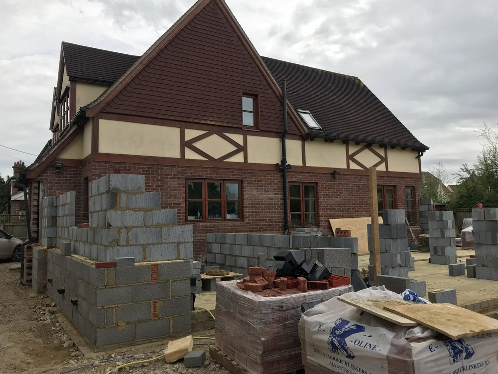 extension project - padworth: block work is coming along nicely