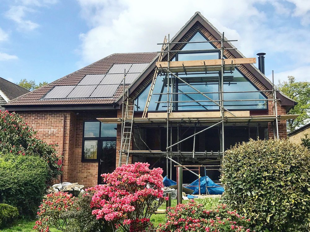 Extension project - barkham: Installation of the custom made apex windows