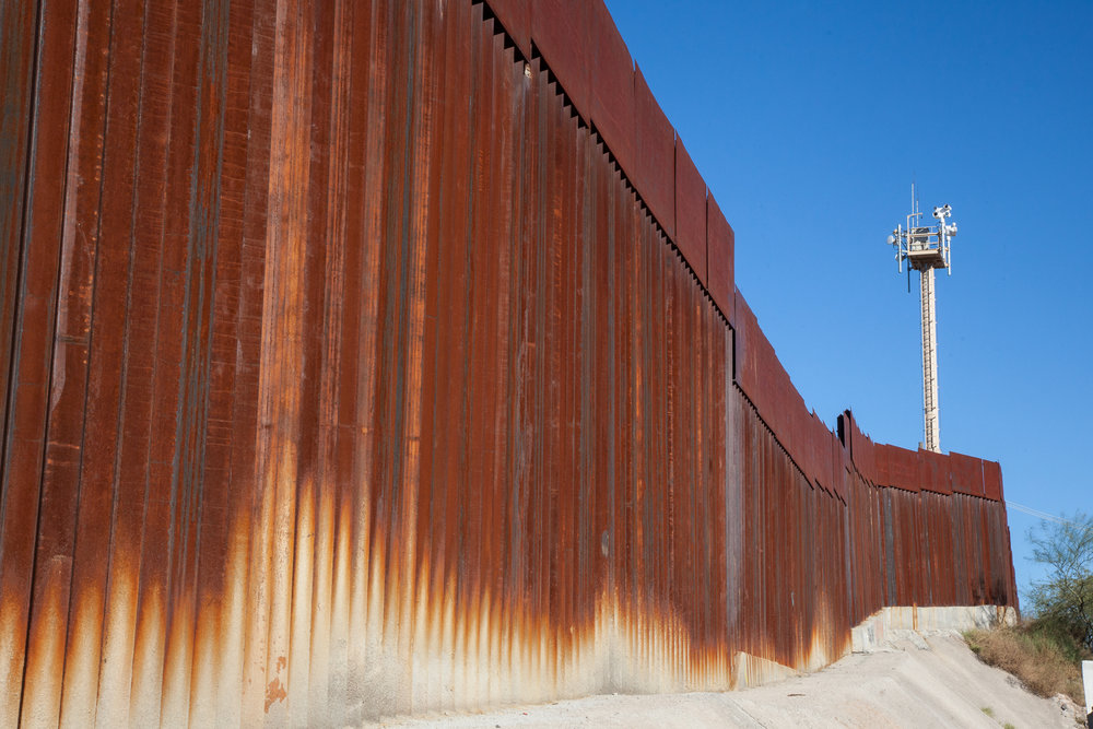 Border Wall, Nogales, Mexico & US