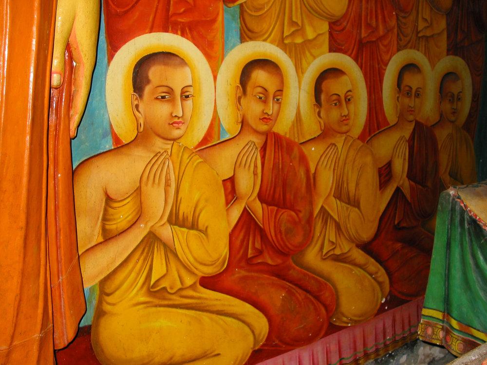 Buddhist Temple Fresco, Sri Lanka