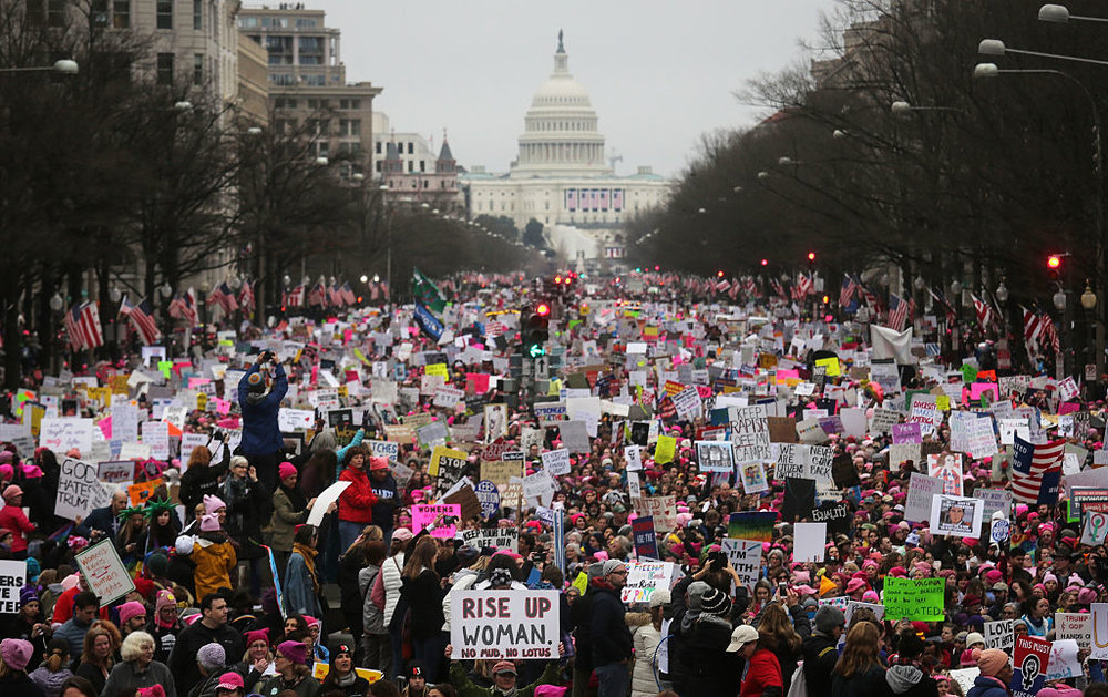 2017 Women's march on washington, DC, the event that spawned the r2j initiative.
