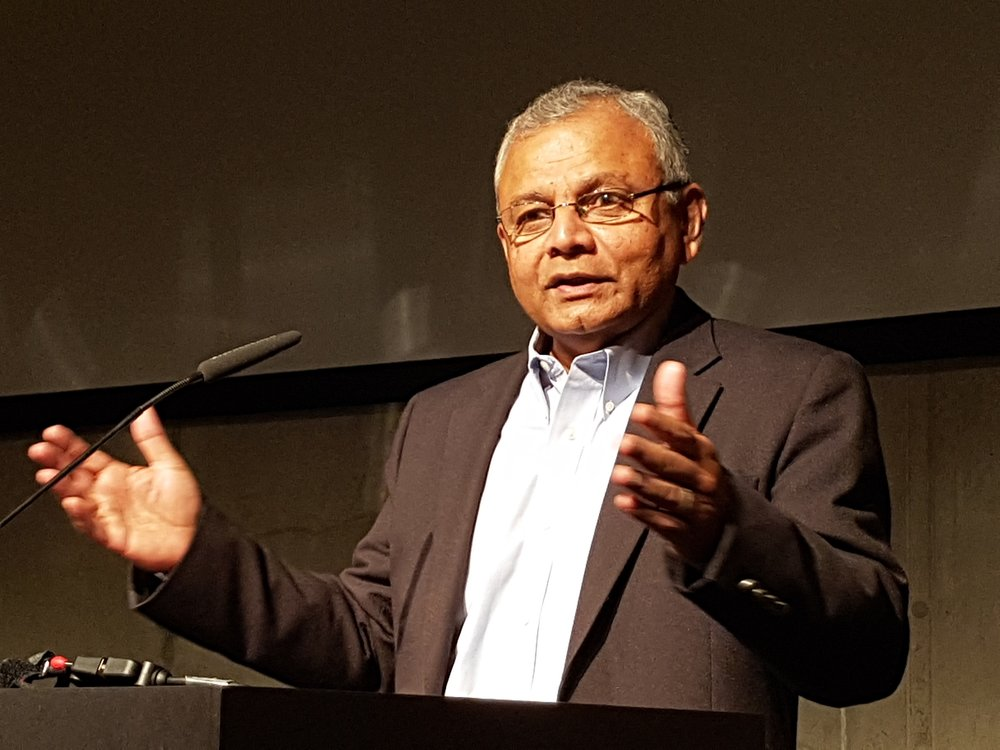 "OMNIA President Shanta Premawardhana delivers an address at Kirchentag, in Berlin, 2017 -  a conference attended by more than 100,000 Christian clergy and laypersons. There he called for a ""new reformation""  rooted in religious pluralism and a renewed commitment to the needs of those living in the margins."