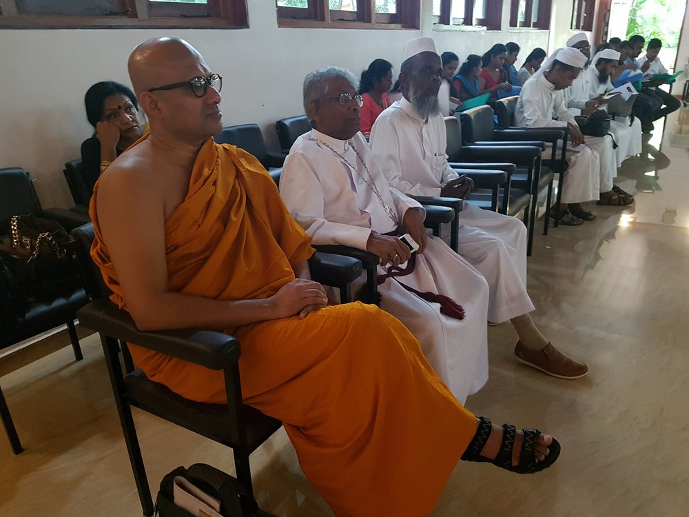 Buddhist, Christian, and Muslim leader at OMNIA Leadership Training Event in Kandy, Sri Lanka