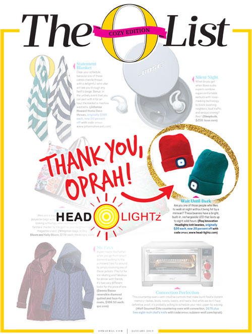 As featured in the January issue of O The Oprah Magazine.