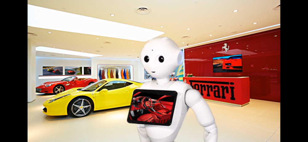 Robot Car Salesman