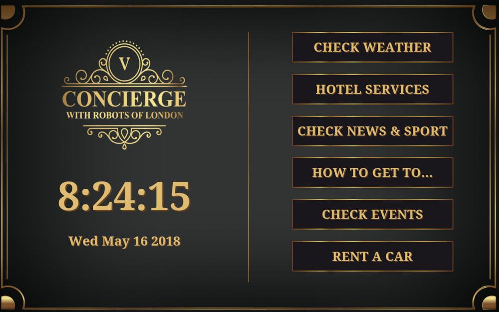 Robot Hotel Concierge
