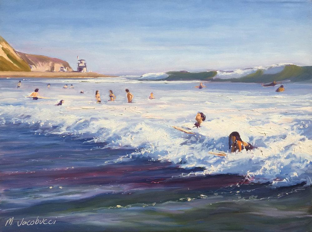 Mara and Maribel Catch the Wave