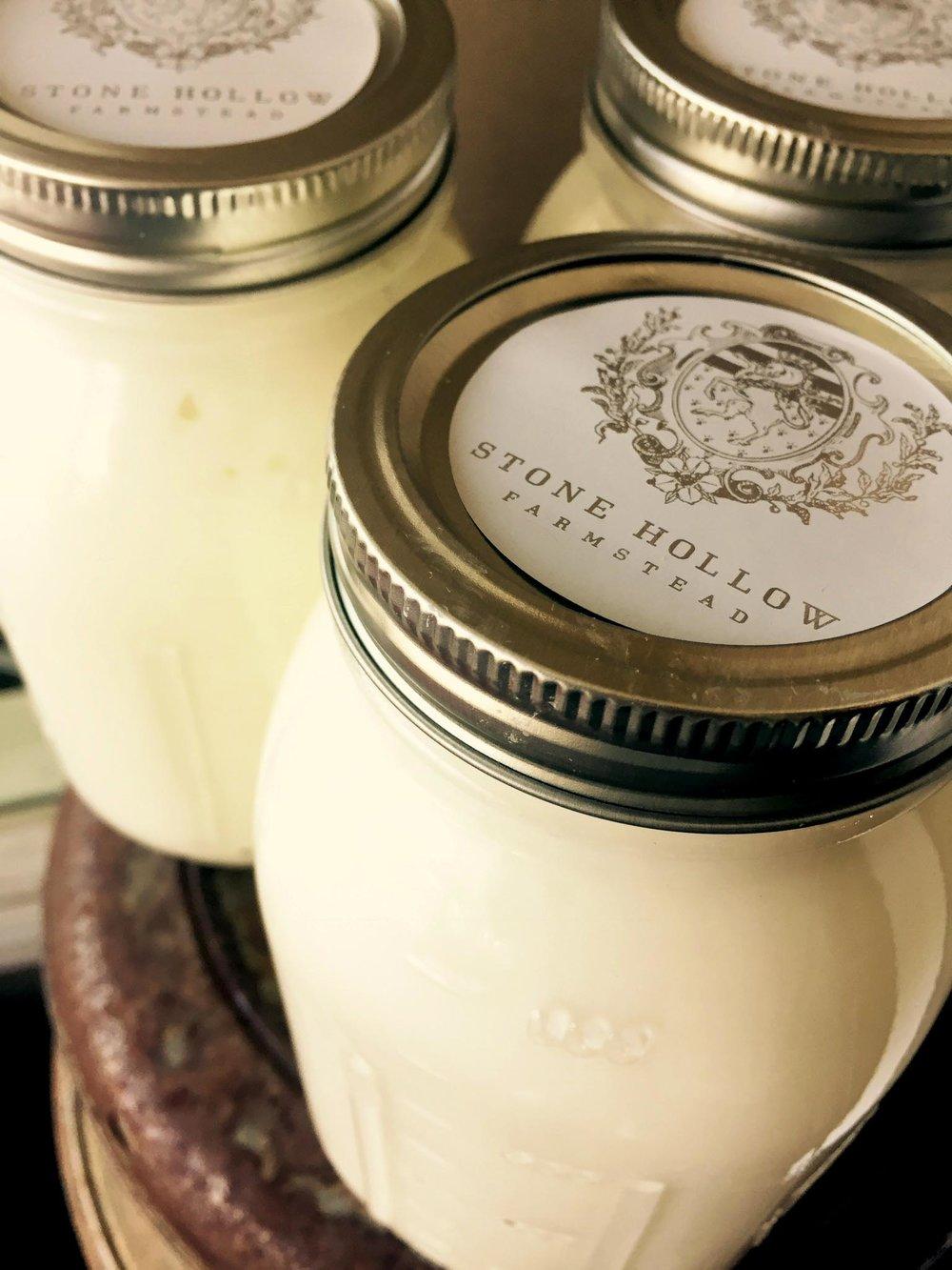 Plain Cow Yogurt - Stone Hollow Farmstead CSA