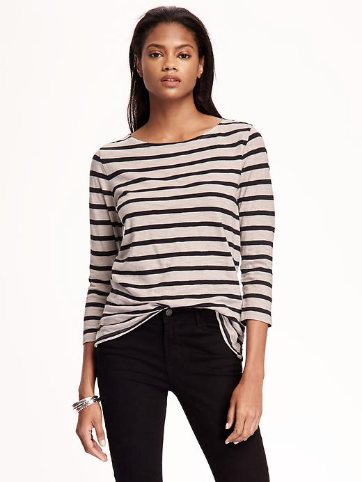 Relaxed Boat Neck Tee